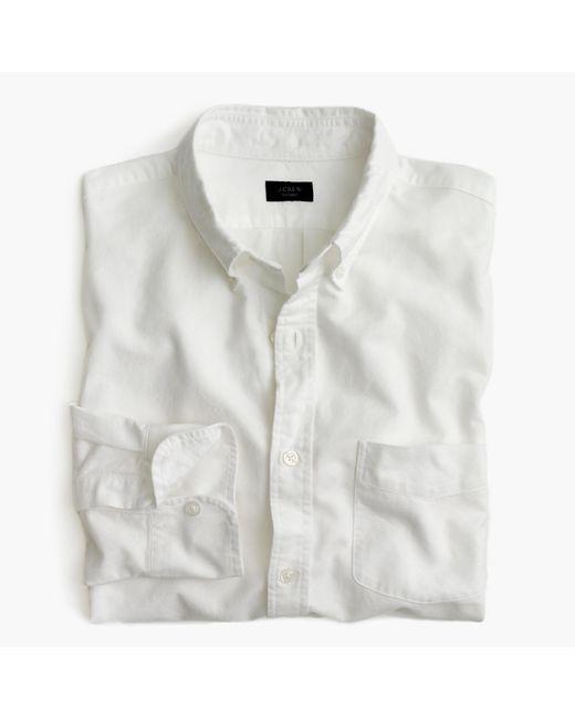J.Crew   Vintage Oxford Shirt In White for Men   Lyst