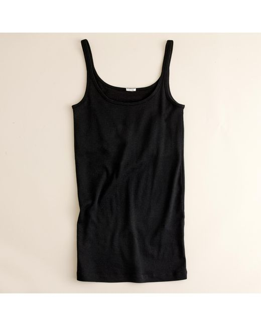 J.Crew | Black Perfect-fit Tank With Built-in Bra | Lyst
