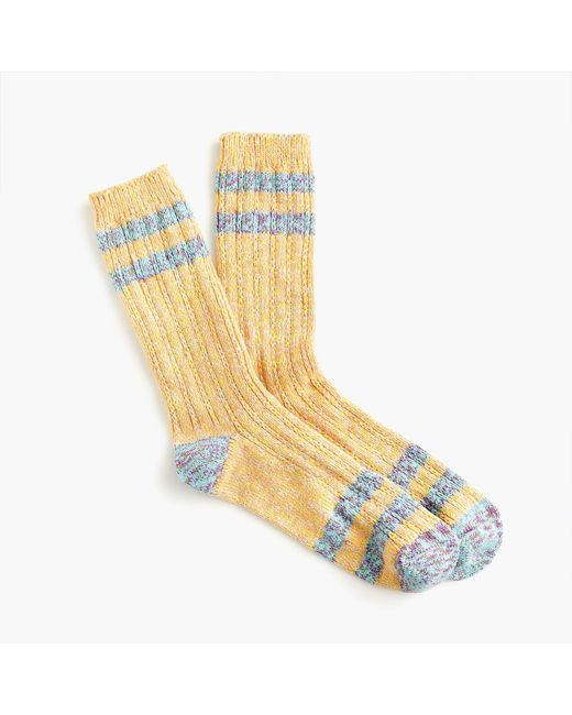 J.Crew - Metallic Trouser Socks In Marled Stripe - Lyst