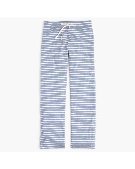 J.Crew | White Petite Dreamy Cotton Pant In Stripe | Lyst
