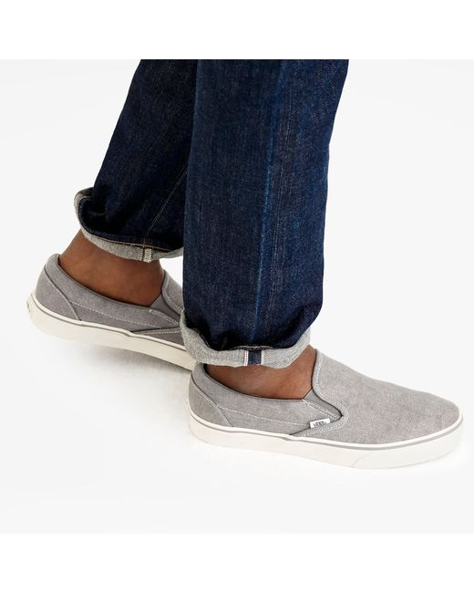 187b32f2f8 ... Vans - Metallic Washed Canvas Classic Slip-on Sneakers for Men - Lyst  ...