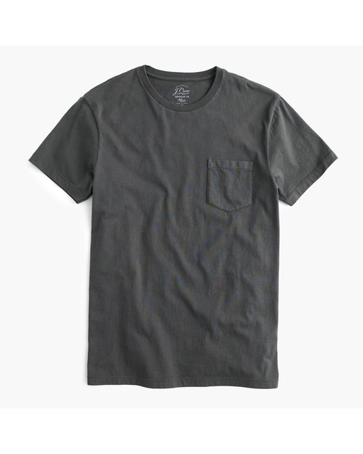 J.Crew | Black Slim Broken-in Pocket T-shirt for Men | Lyst