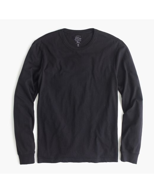 J.Crew | Black Slim Broken-in Long-sleeve T-shirt for Men | Lyst