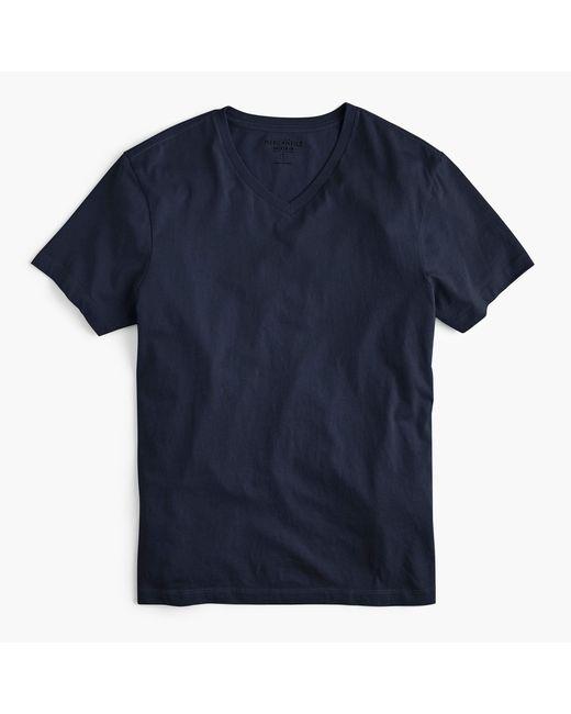 J.Crew - Blue Mercantile Broken-in V-neck T-shirt for Men - Lyst
