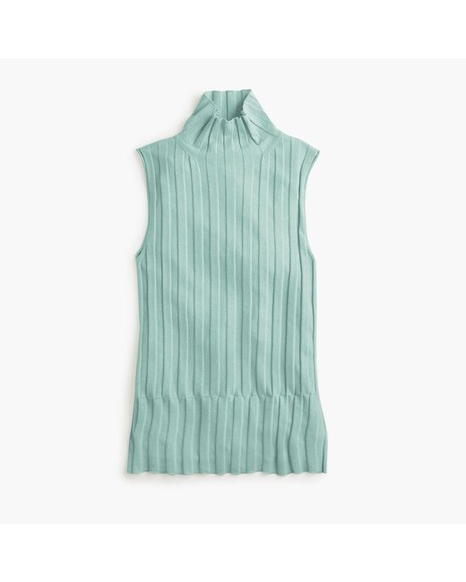 J.Crew - Multicolor 365 Stretch Sleeveless Turtleneck Ribbed Sweater - Lyst