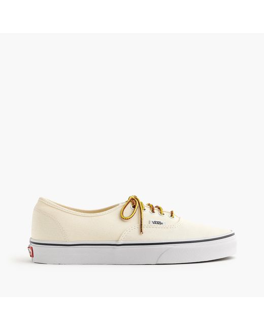 df83102491b293 ... Vans - White Canvas Authentic Sneakers for Men - Lyst ...