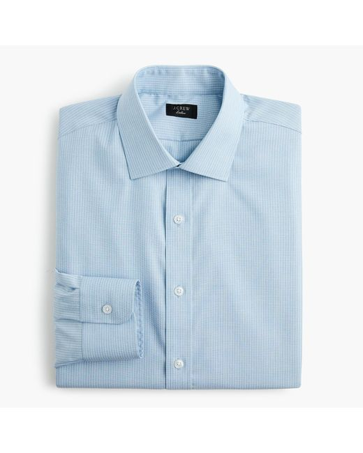 J.Crew - Blue Ludlow Stretch Two-ply Easy-care Cotton Dress Shirt In Stripe for Men - Lyst