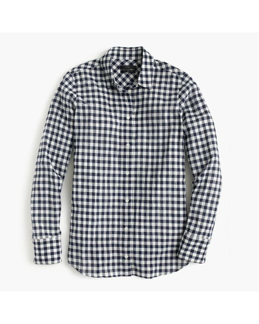 J.Crew | Black Petite Boy Shirt In Crinkle Gingham | Lyst