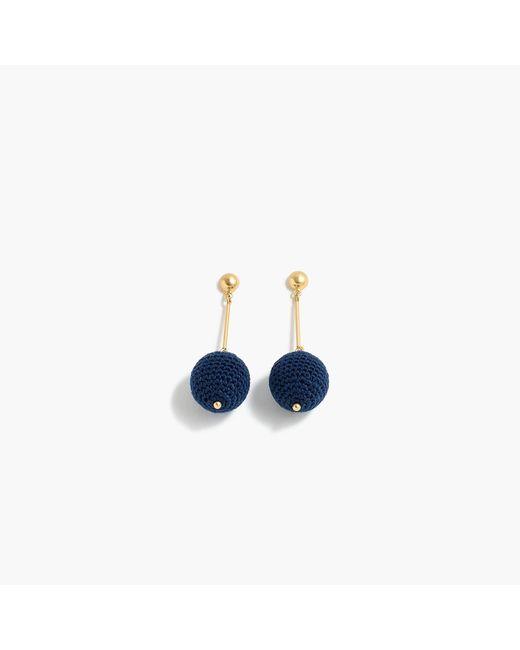 J.Crew - Blue Crochet Bead Drop Earrings - Lyst