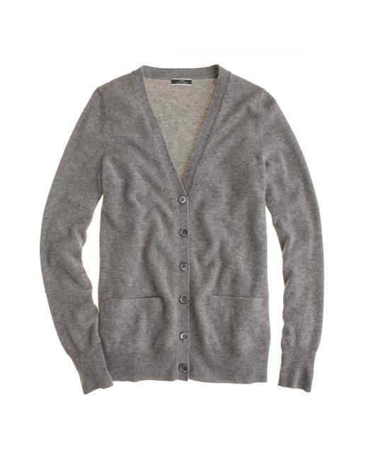 J.Crew | Gray Collection Cashmere Boyfriend Cardigan Sweater | Lyst