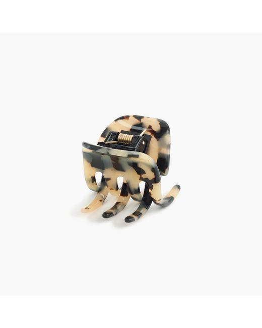 J.Crew | Metallic Classic Hair Clip In Italian Tortoise | Lyst