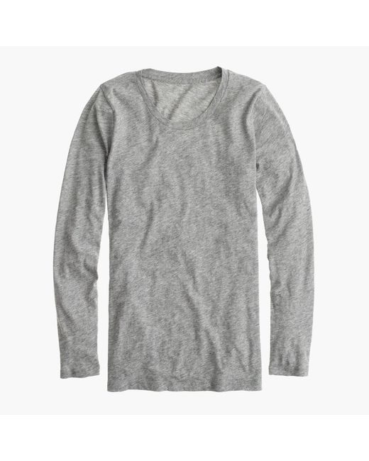 J.Crew | Gray Vintage Cotton Long-sleeve T-shirt | Lyst