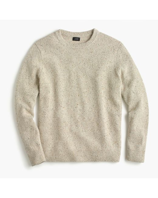 J.Crew - Natural Italian Donegal Wool Crewneck Sweater for Men - Lyst
