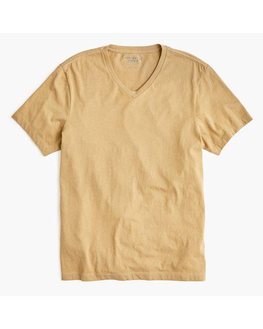J.Crew - Natural Tall Mercantile Broken-in V-neck T-shirt for Men - Lyst