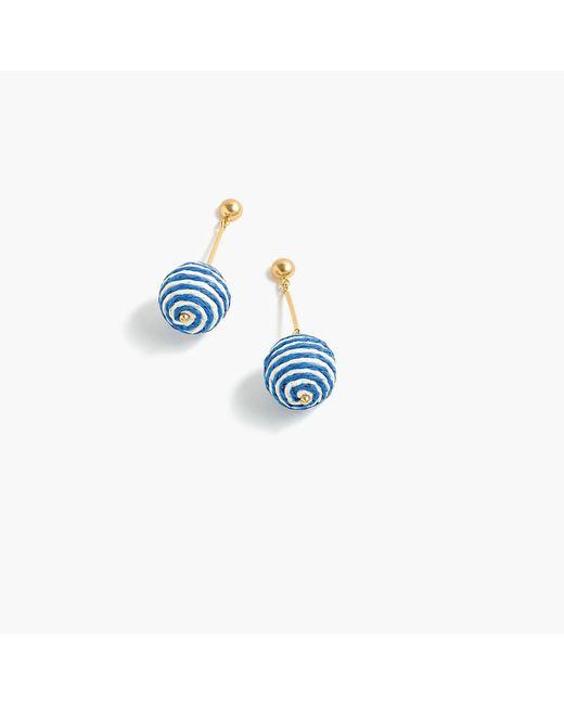 J.Crew - Blue Striped Bead Drop Earrings - Lyst