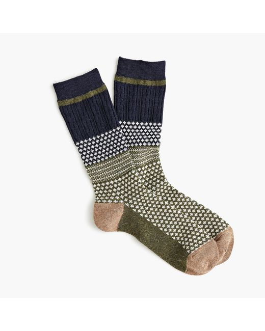 Anonymous Ism - Blue Moss Navy Crew Socks for Men - Lyst