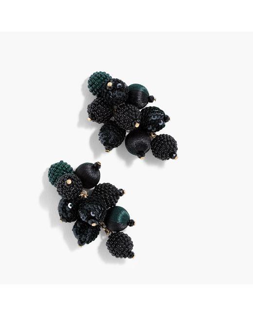 J.Crew   Black Mixed-material Cluster Earrings   Lyst