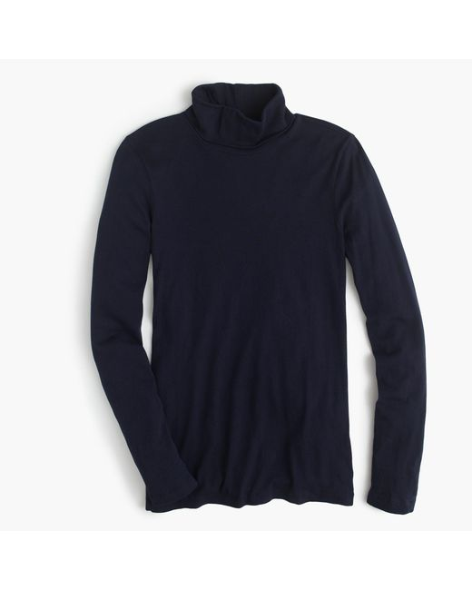 J.Crew | Blue Tissue Turtleneck T-shirt | Lyst