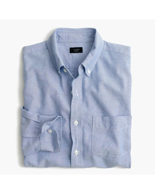 J.Crew | Blue Slim Vintage Oxford Shirt for Men | Lyst