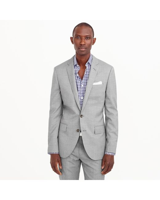 J.Crew - Gray Ludlow Suit Jacket With Double Vent In Italian Wool for Men - Lyst
