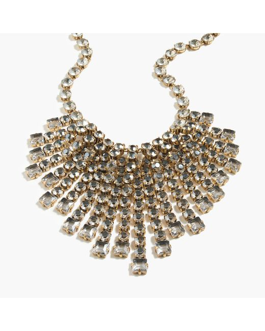 J.Crew - Multicolor Cascading Crystal Necklace - Lyst