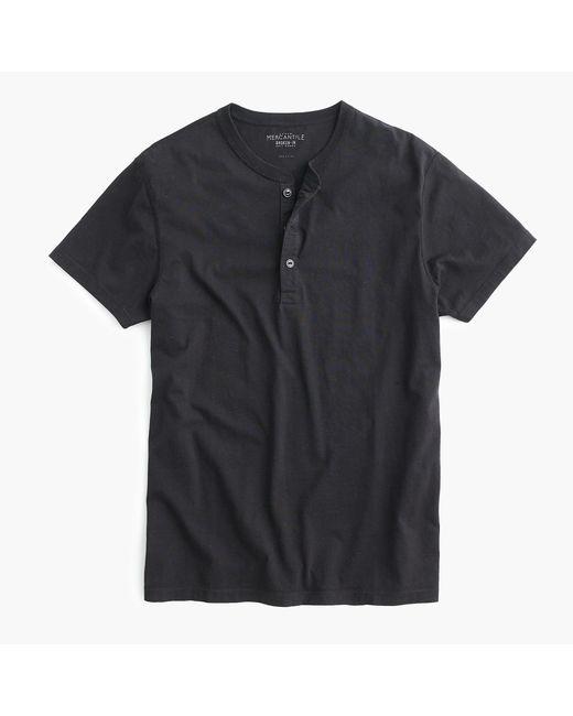 J.Crew - Black Mercantile Broken-in Short-sleeve Henley for Men - Lyst