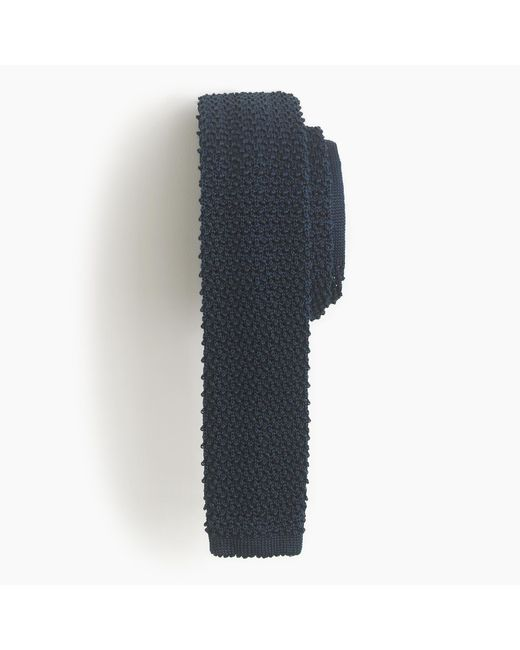 J.Crew | Blue Italian Silk Knit Tie for Men | Lyst