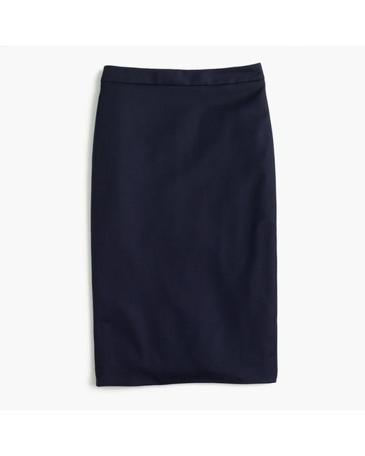 J.Crew | Blue Pencil Skirt In Italian Super 120s Wool | Lyst