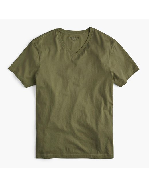 J.Crew - Green Mercantile Broken-in V-neck T-shirt for Men - Lyst