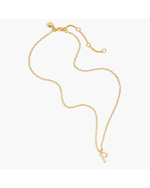 J.Crew - Metallic Gold Letter Necklace - Lyst