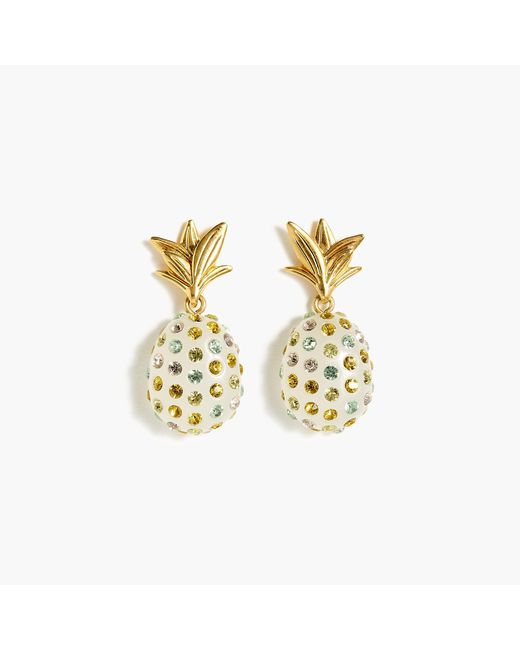 J.Crew - Metallic Sparkly Pineapple Earrings - Lyst