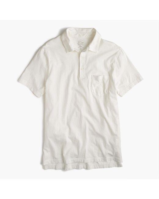 J.Crew | White Broken-in Pocket Polo Shirt for Men | Lyst