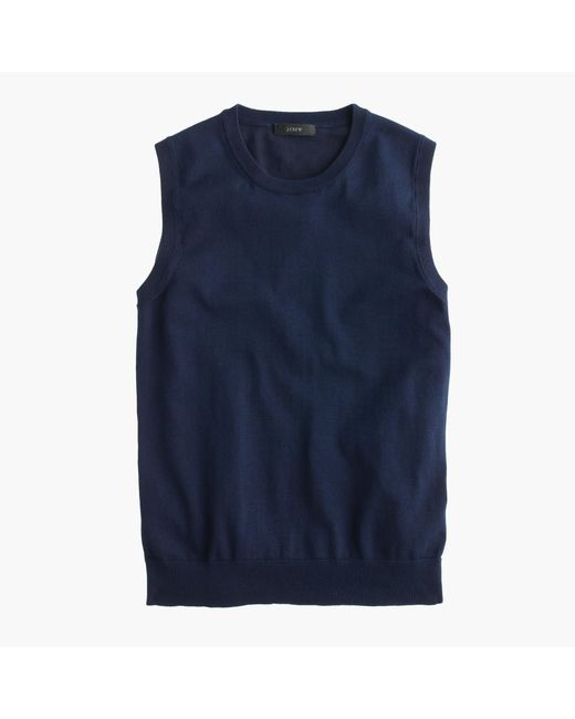 J.Crew - Blue Cotton Jackie Shell - Lyst