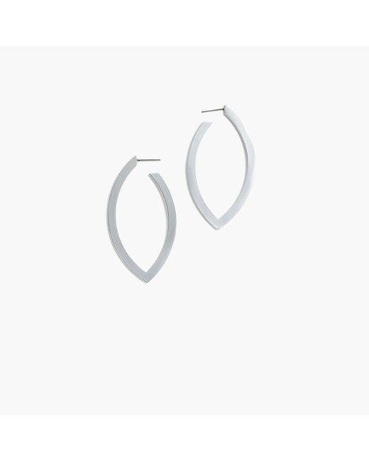 J.Crew - Metallic Leaf Hoop Earrings - Lyst
