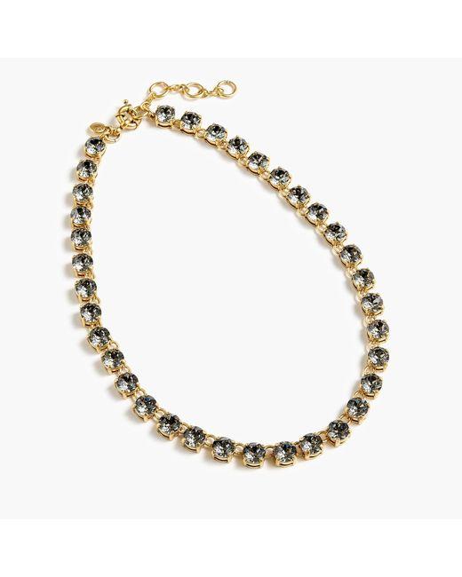 J.Crew - Metallic Swarovski Crystal Dot Necklace - Lyst