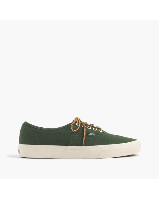 J.Crew   Green Vans Heavy Canvas Authentic Sneakers for Men   Lyst
