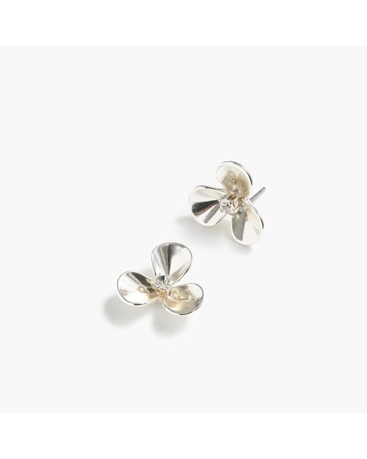 J.Crew | Metallic Petite Petal Earrings | Lyst
