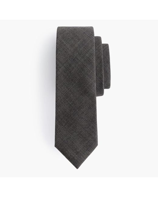 J.Crew - Brown Ludlow Wool Tie In Glen Plaid for Men - Lyst