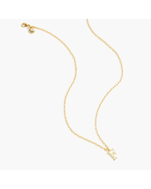 J.Crew - Metallic Gold Letter Necklace - Lyst