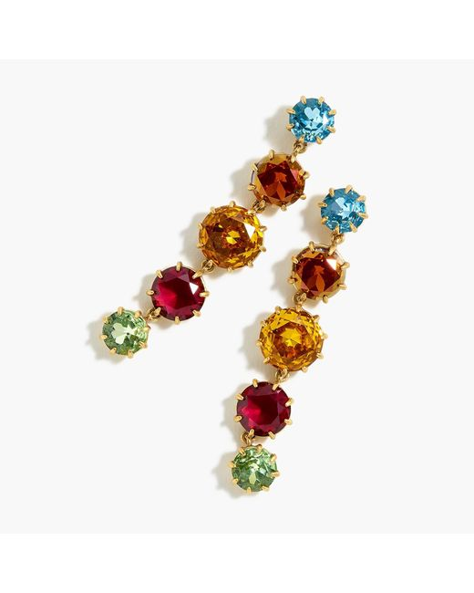 J.Crew - Multicolor Crystal Drop Earrings - Lyst