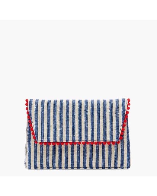 J.Crew - Multicolor Convertible Envelope Clutch In Stripe - Lyst