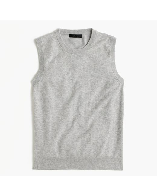 J.Crew | Gray Cotton Jackie Shell | Lyst