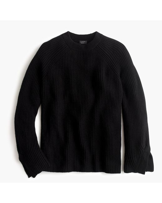 J.Crew - Black Collection Cashmere Crewneck Tunic Sweater - Lyst