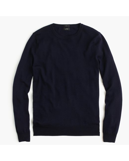 J.Crew | Blue Slim Merino Wool Crewneck Sweater for Men | Lyst