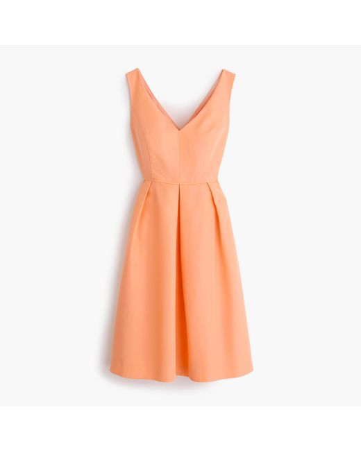 J.Crew | Orange Kami Dress In Classic Faille | Lyst