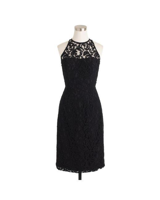 J.Crew | Black Pamela Dress In Leavers Lace | Lyst