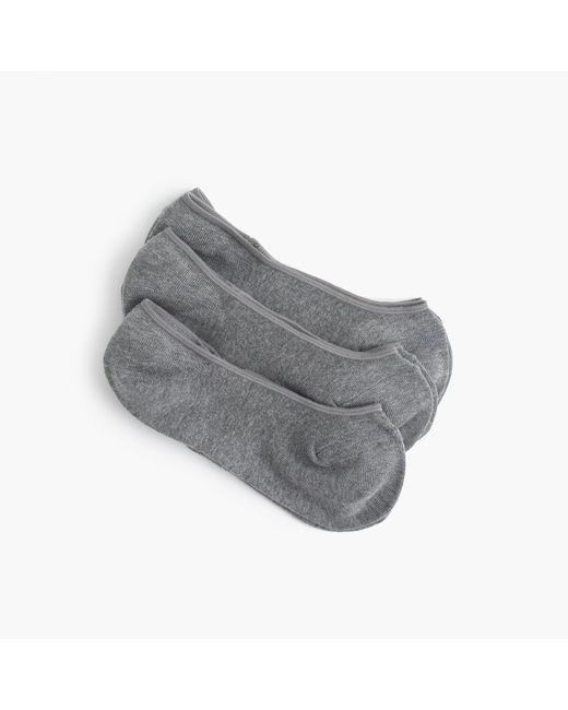 J.Crew | Metallic No-show Socks Three-pack | Lyst