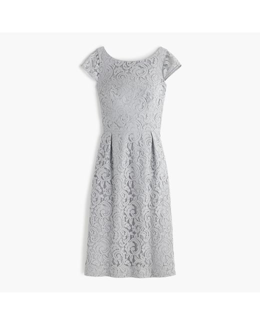 J.Crew   Gray Petite Elsa Dress In Leavers Lace   Lyst