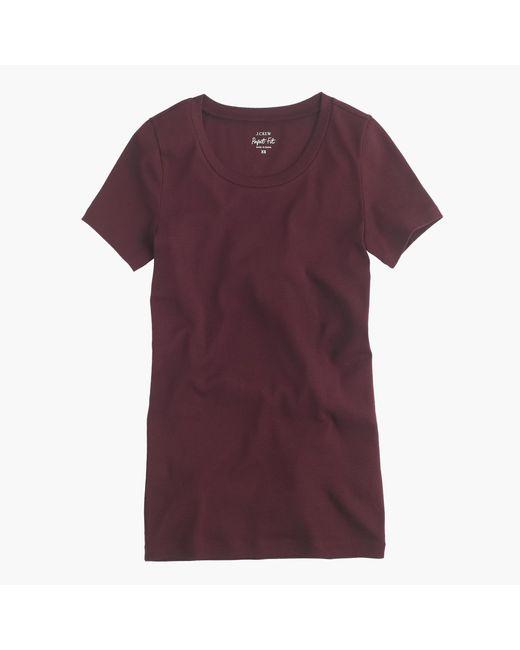 J.Crew | Purple Perfect-fit T-shirt | Lyst