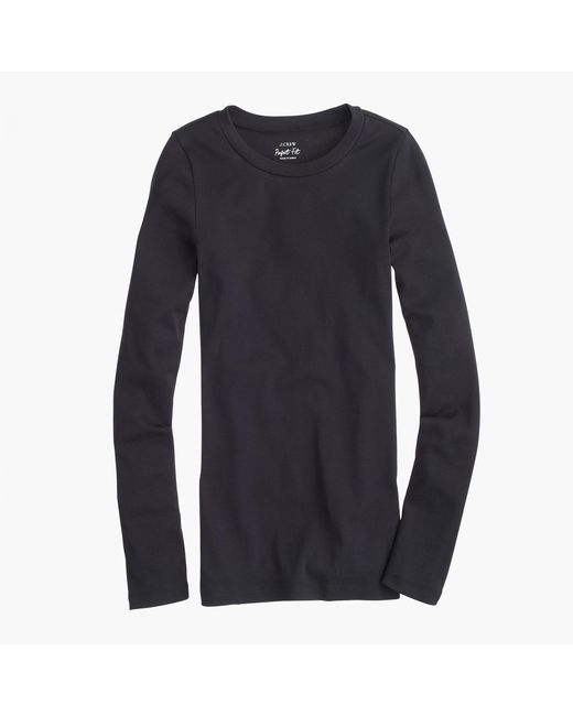 J.Crew | Black Perfect-fit Long-sleeve T-shirt | Lyst